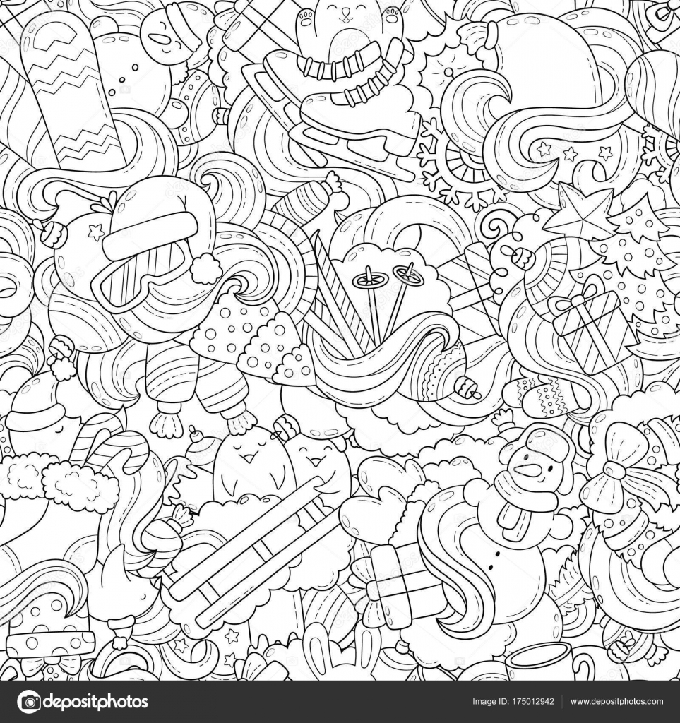 Doodle vector illustration, abstract background, texture, pattern ...