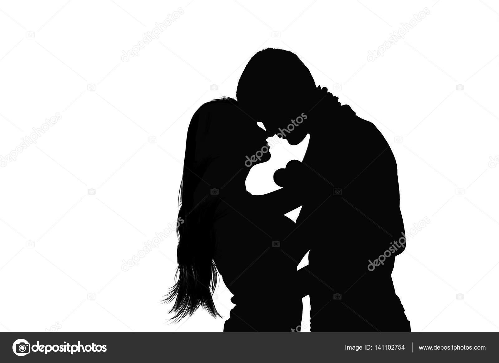 Silueta De Dos Personas Enamoradas Silueta Negra De Una Pareja