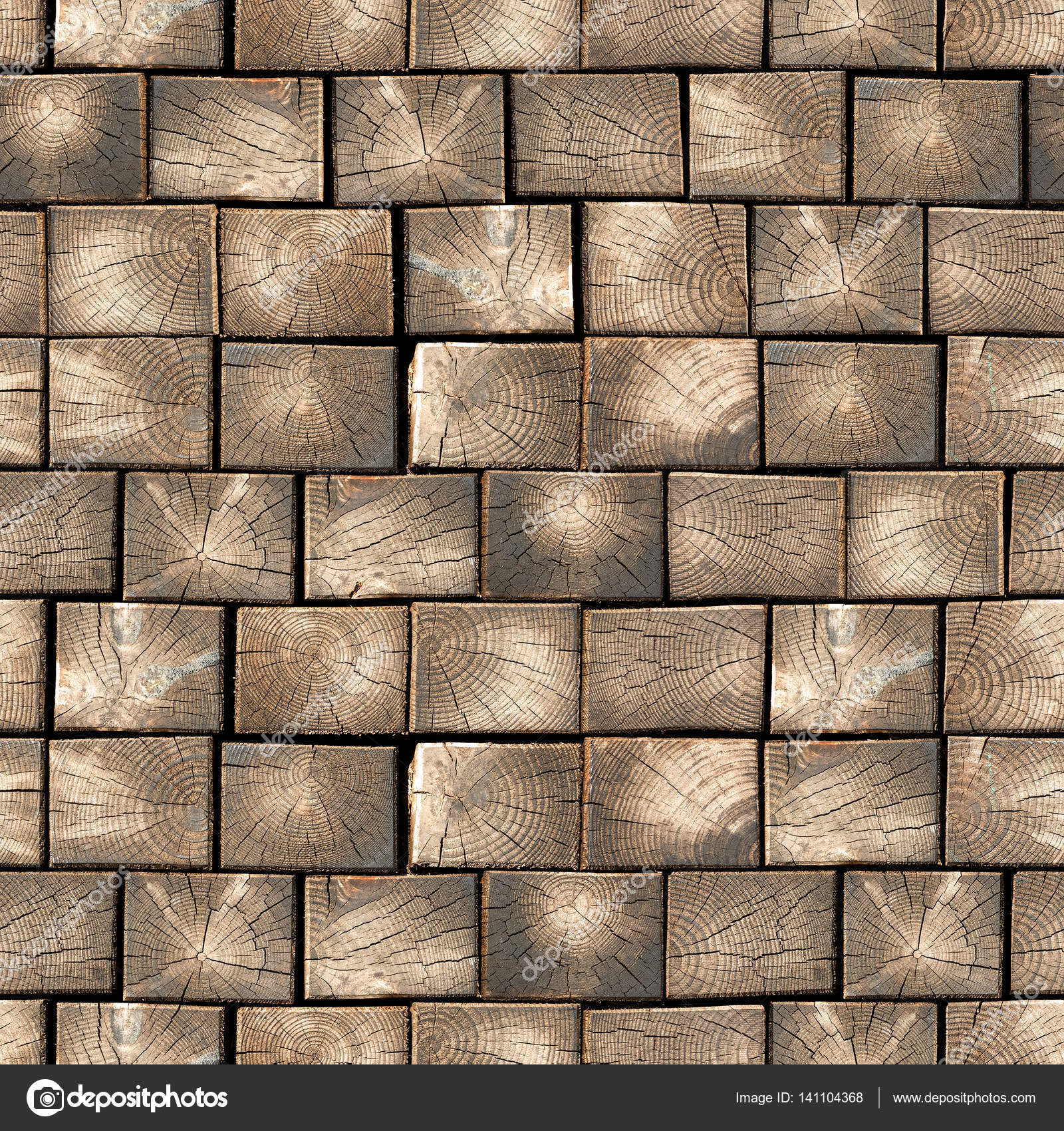 Wooden Paving Slabs Seamless Texture Stock Photo Natti85 141104368