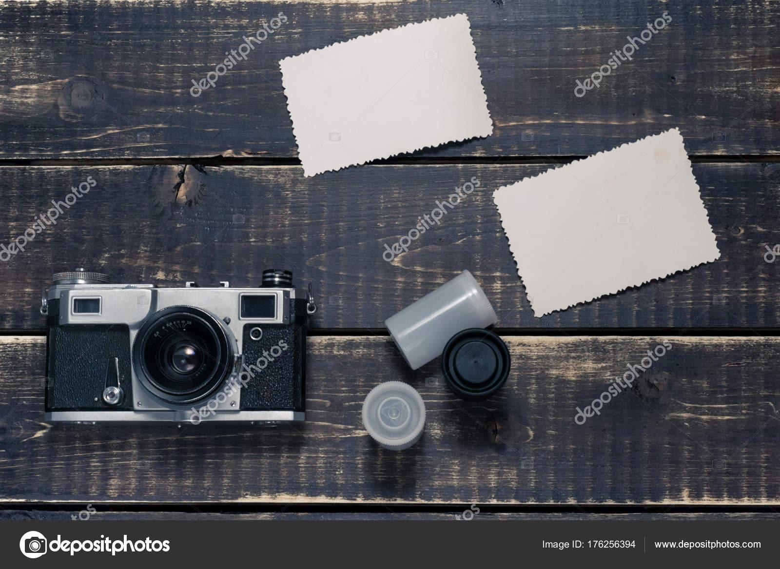Alten entfernungsmesser vintage und retro fotokamera mit vintage