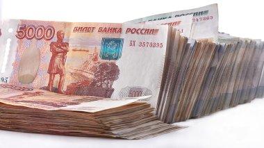 Heap of Russian Rubles.