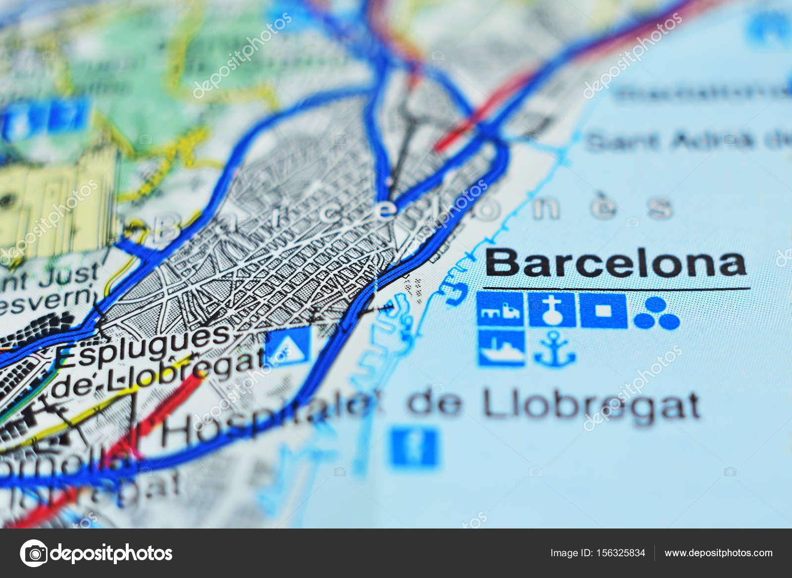 Closeup of Catalonia map. — Stock Photo © phototravelua #156325834
