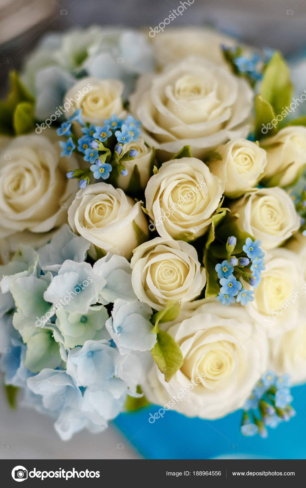 Exquisite Spring Bouquet Blue White Wedding Flowers Wedding Floral ...