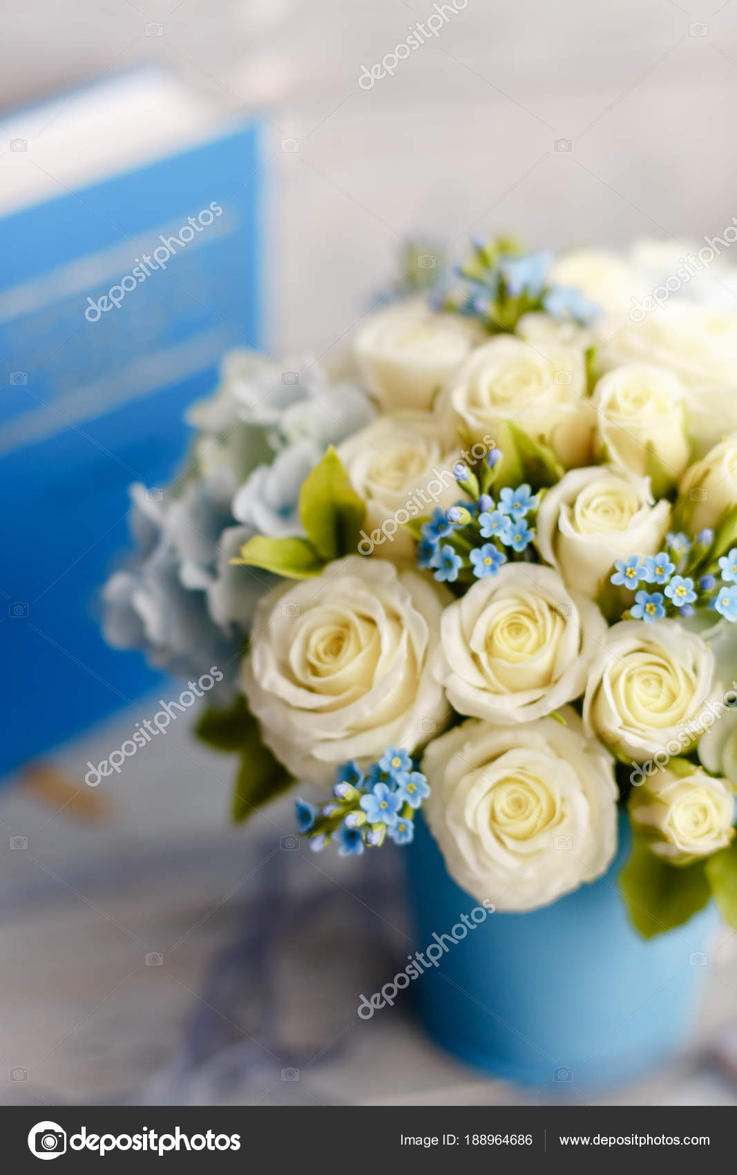 Exquisite Spring Bouquet Blue White Wedding Flowers Wedding Floral