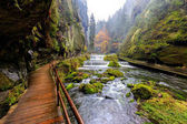 Kamnitz rokle v národním parku Saské Švýcarsko