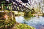 Fotografie Old railway bridge of the Primstalbahn near Waldern
