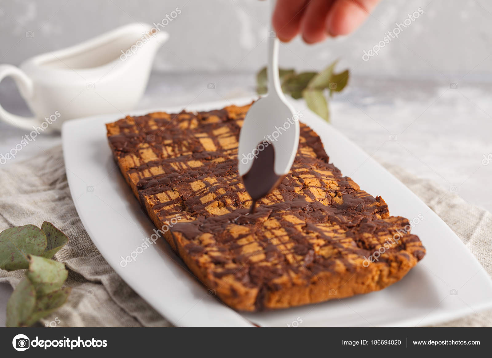 Gateau a la vanille avec glacage