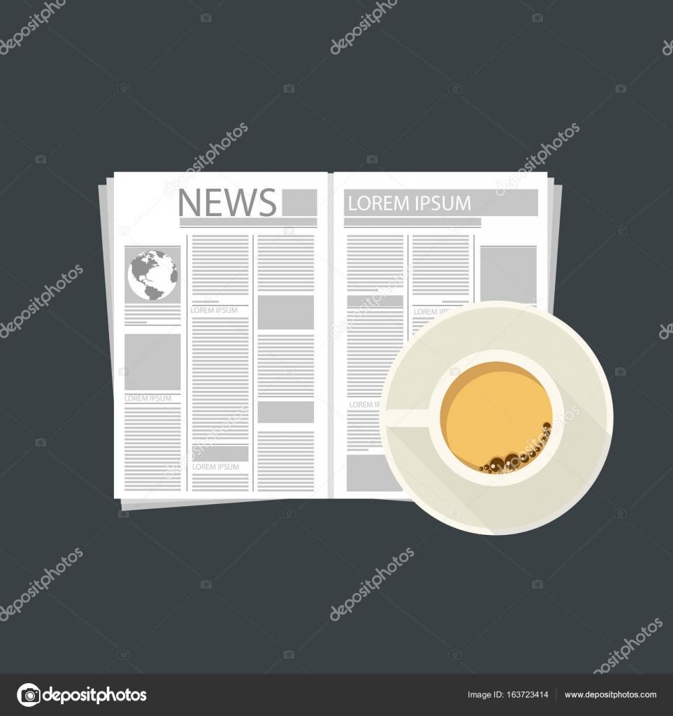 dba460eaab6 Tasse de café avec le journal. Temps de café