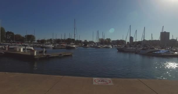 Chicago výhled na přístav, lodě v přístavu