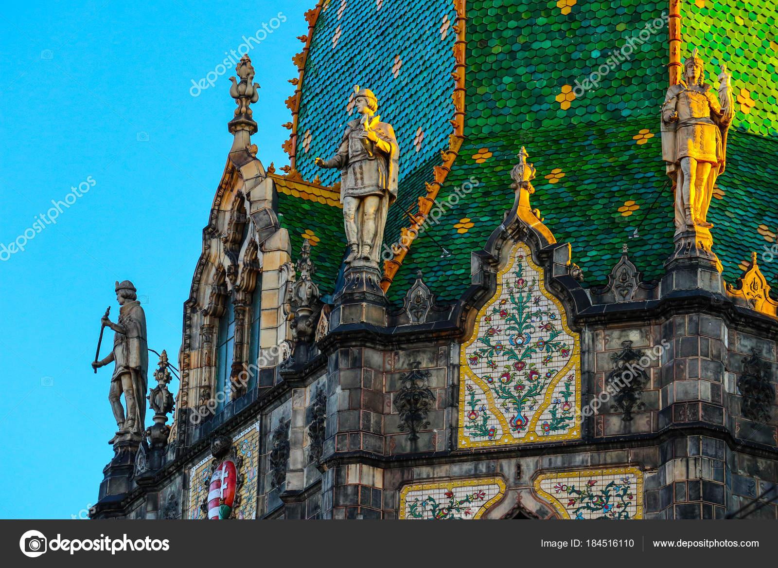Hongarije boedapest deel van decoratie van museum van toegepaste