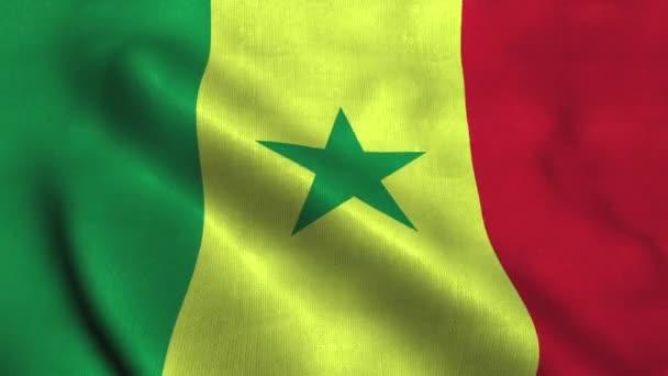 Senegal flag waving in the wind. National flag the Republic of Senegal