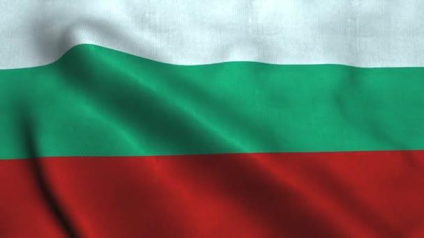 Bulgaria flag waving in the wind. National flag Republic of Bulgaria