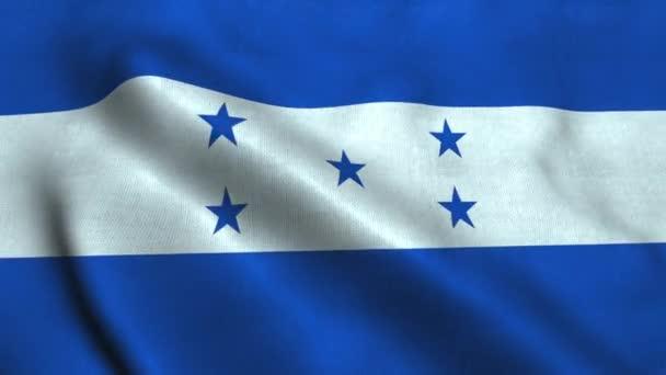 Honduras flag waving in the wind. National flag