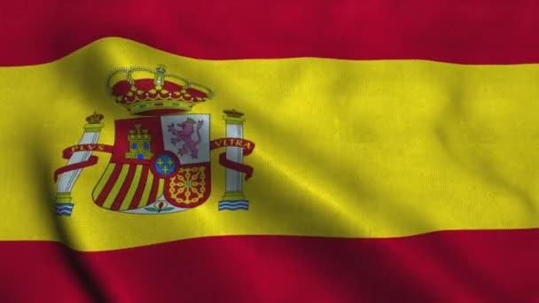 Spain flag waving in the wind. National flag of Kingdom of Spain