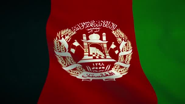 Afghanistan flag waving. National flag Islamic Republic of Afghanistan
