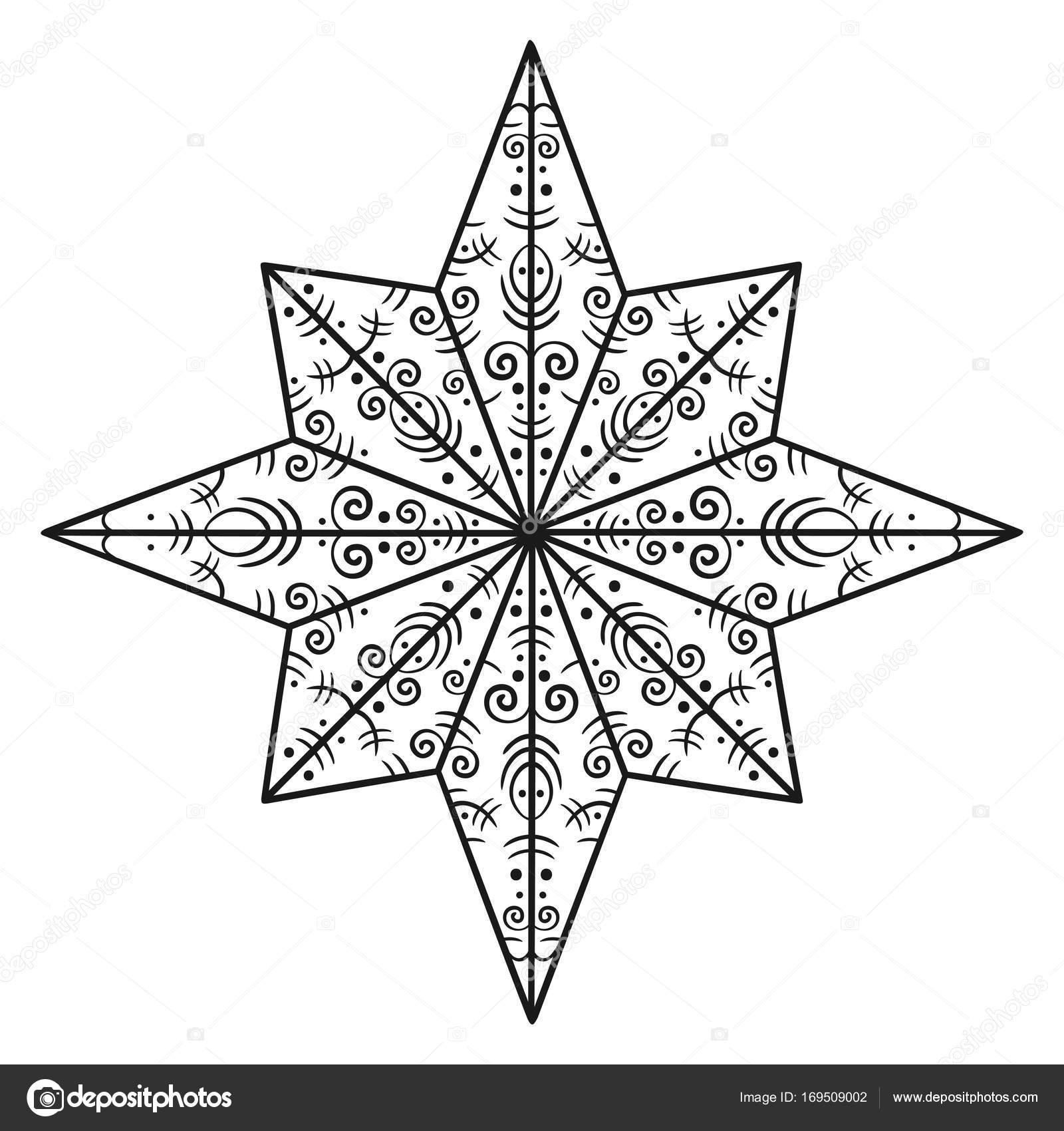 Kleurplaten Kerst Sterren.Kerstmis Sterren Kleurplaten Stockvector C Genevskayamariya 169509002