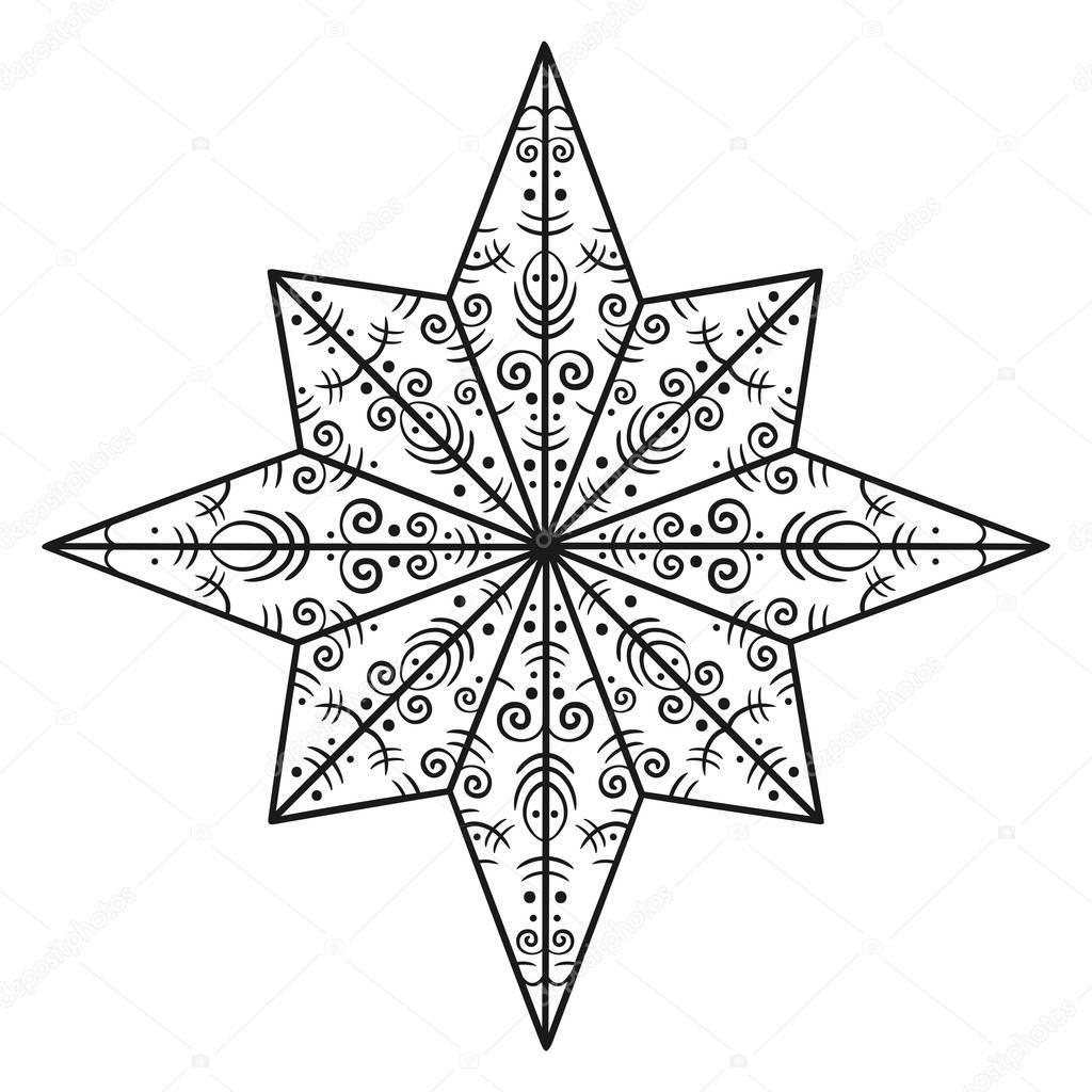 Смешные, картинка рождественская звезда для раскраски