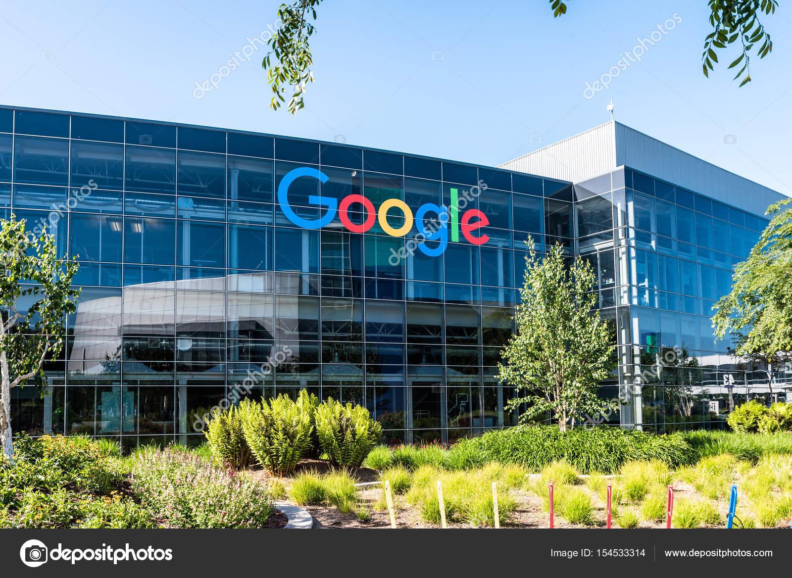 Googleplex - Google Headquarters in California — stock photo