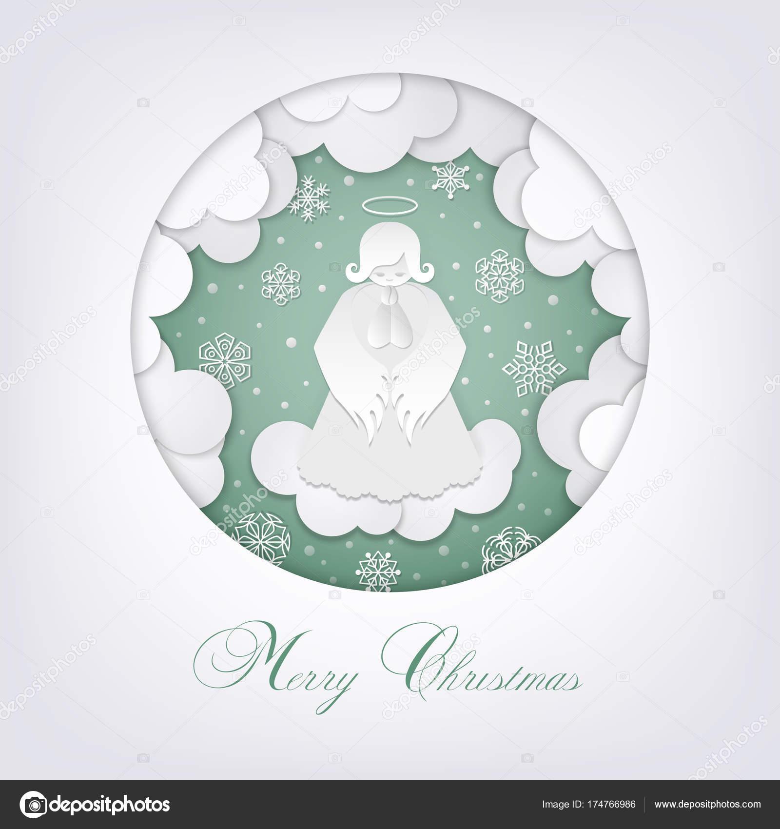 Weihnachten Scherenschnitt.Frohe Scherenschnitt Weihnachten Karte Stockvektor Mirrima