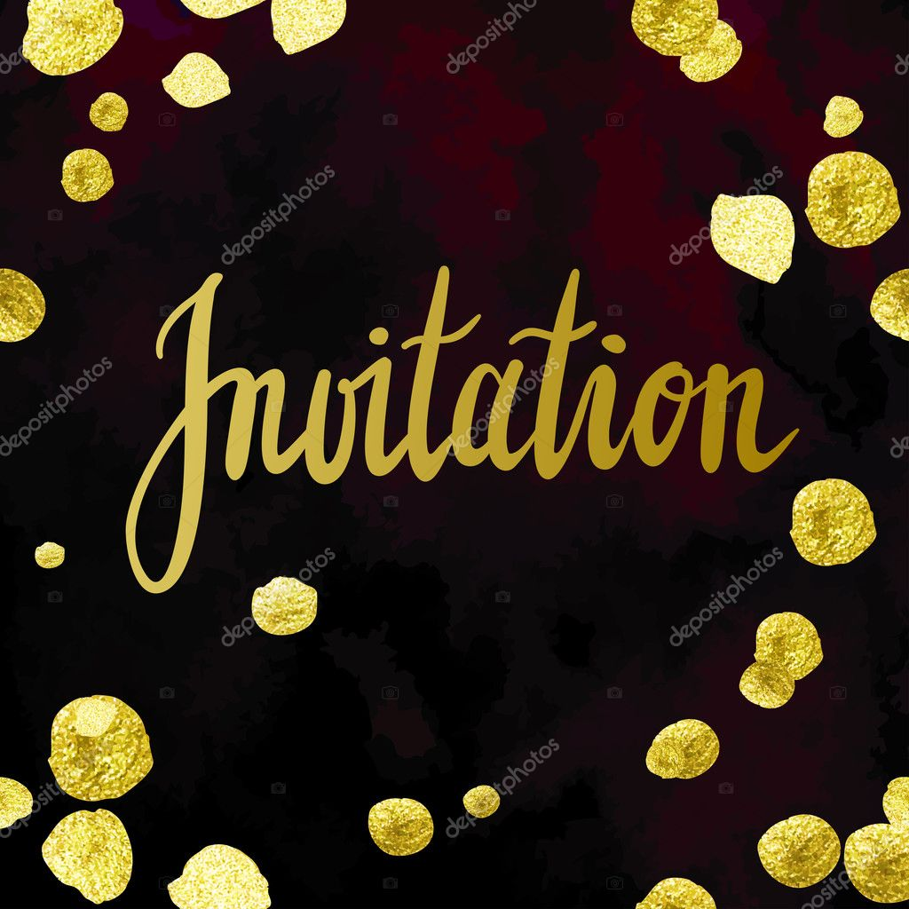 Trendy gold glitter invitation template stock vector larissa s trendy gold glitter invitation template stock vector 128572736 stopboris Images