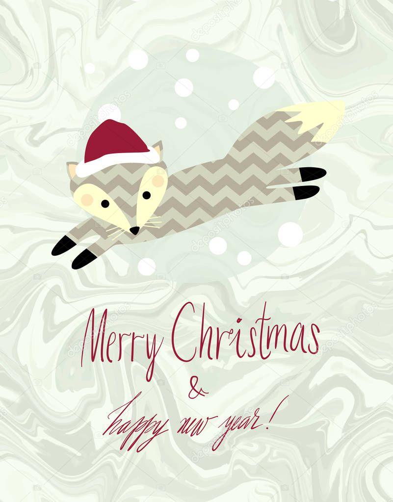 かわいい冬動物カード イラスト — ストックベクター © larissa-s #128847218