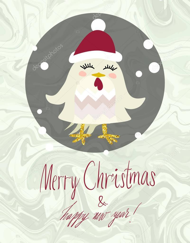 かわいい冬動物カード イラスト — ストックベクター © larissa-s #128847240
