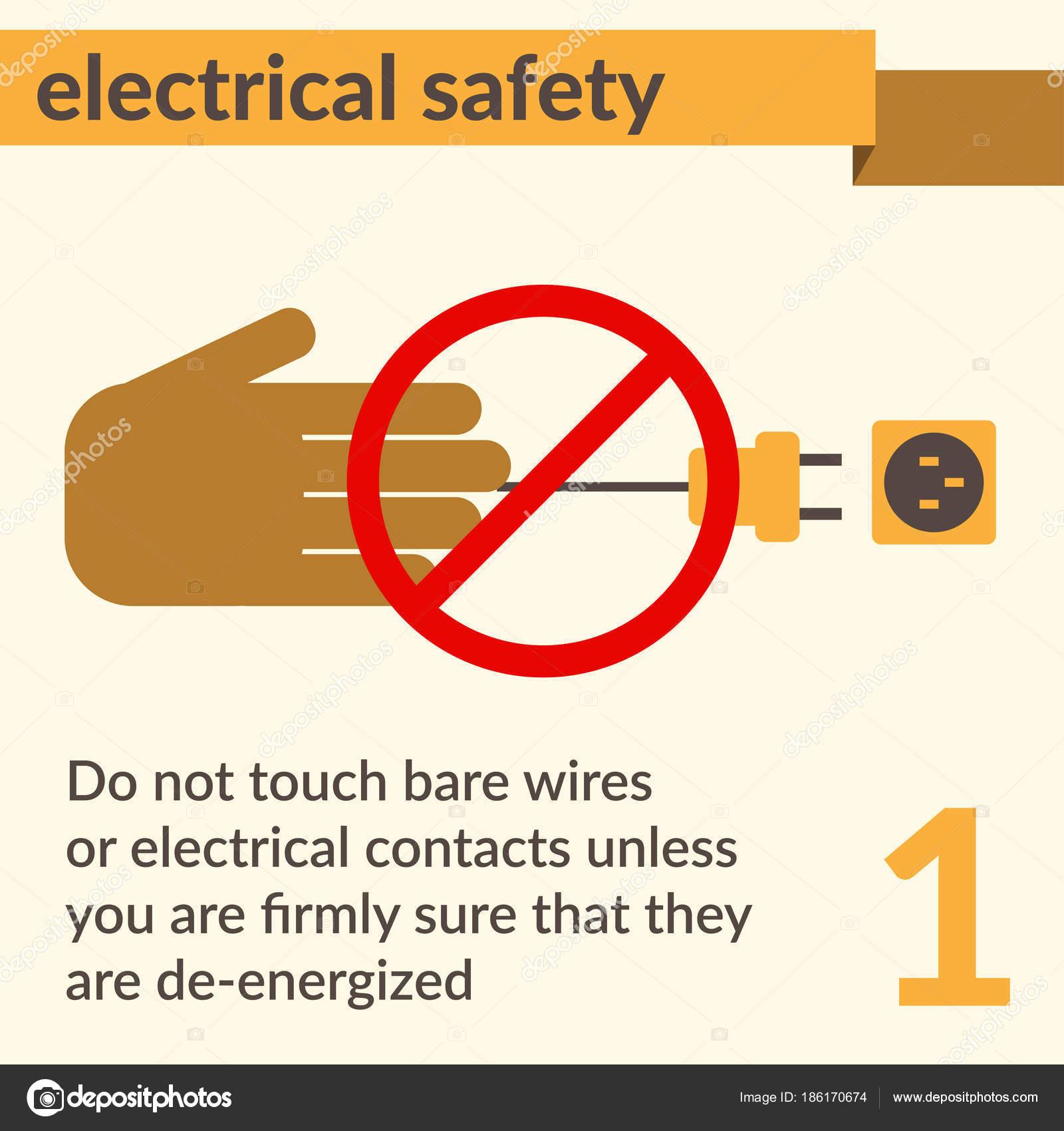 Elektrische Sicherheit und Gesundheitsschutz Symbole und Zeichen ...