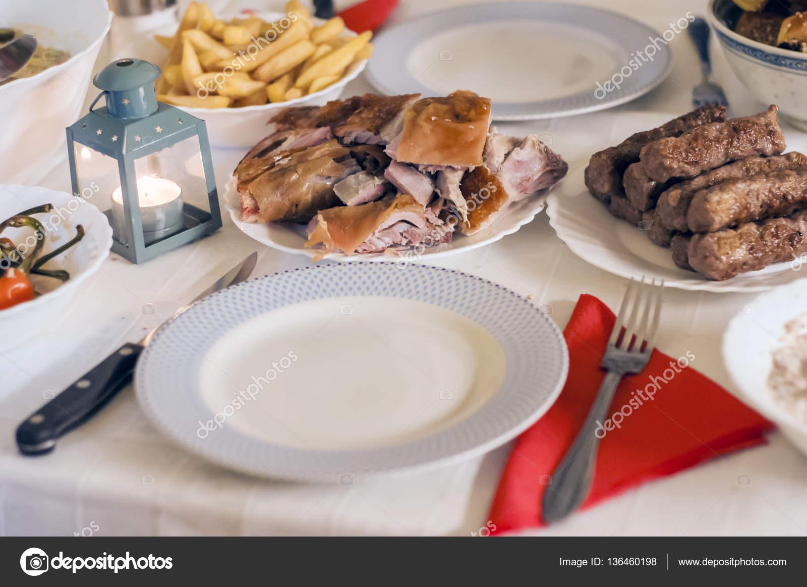 Essen Tisch köstliche Mahlzeiten zubereiten Küche Konzept ...