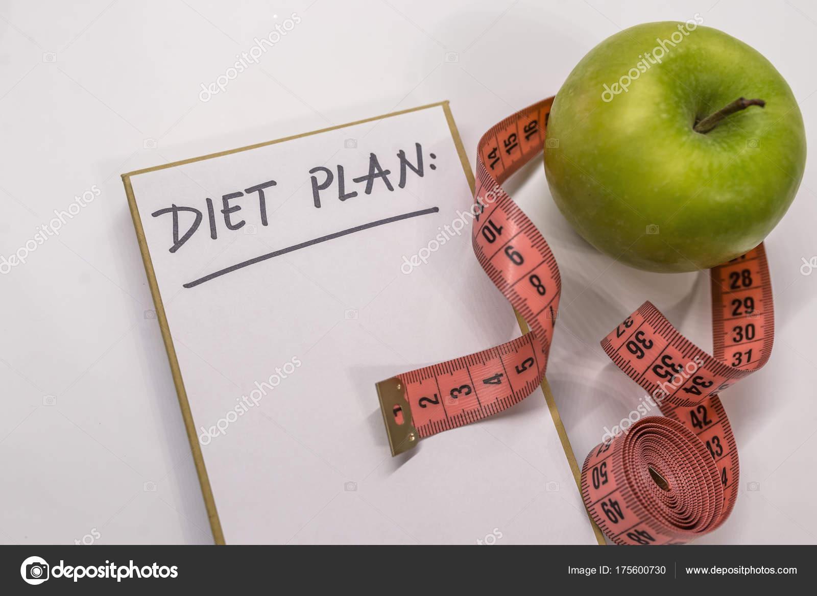 Концепция диета с зеленым яблоком — стоковое фото © elet_1 #101027122.