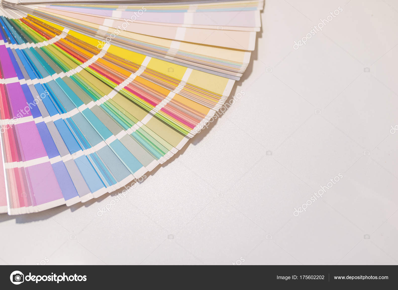 Colour Sample Chart Closeup Different Sorted Color Samples Color Fan U2014  Stock Photo