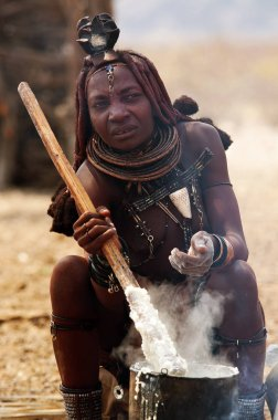 Himba woman with traditional clothes