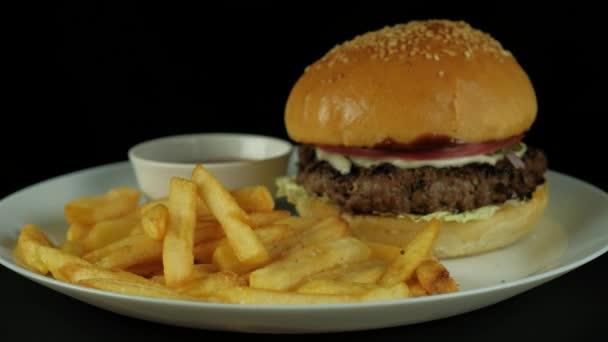 appetizing tasty burger