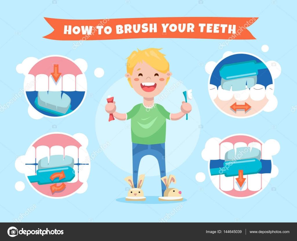 Populaire sourire de garçon tenant une brosse à dents et du dentifrice  PU72