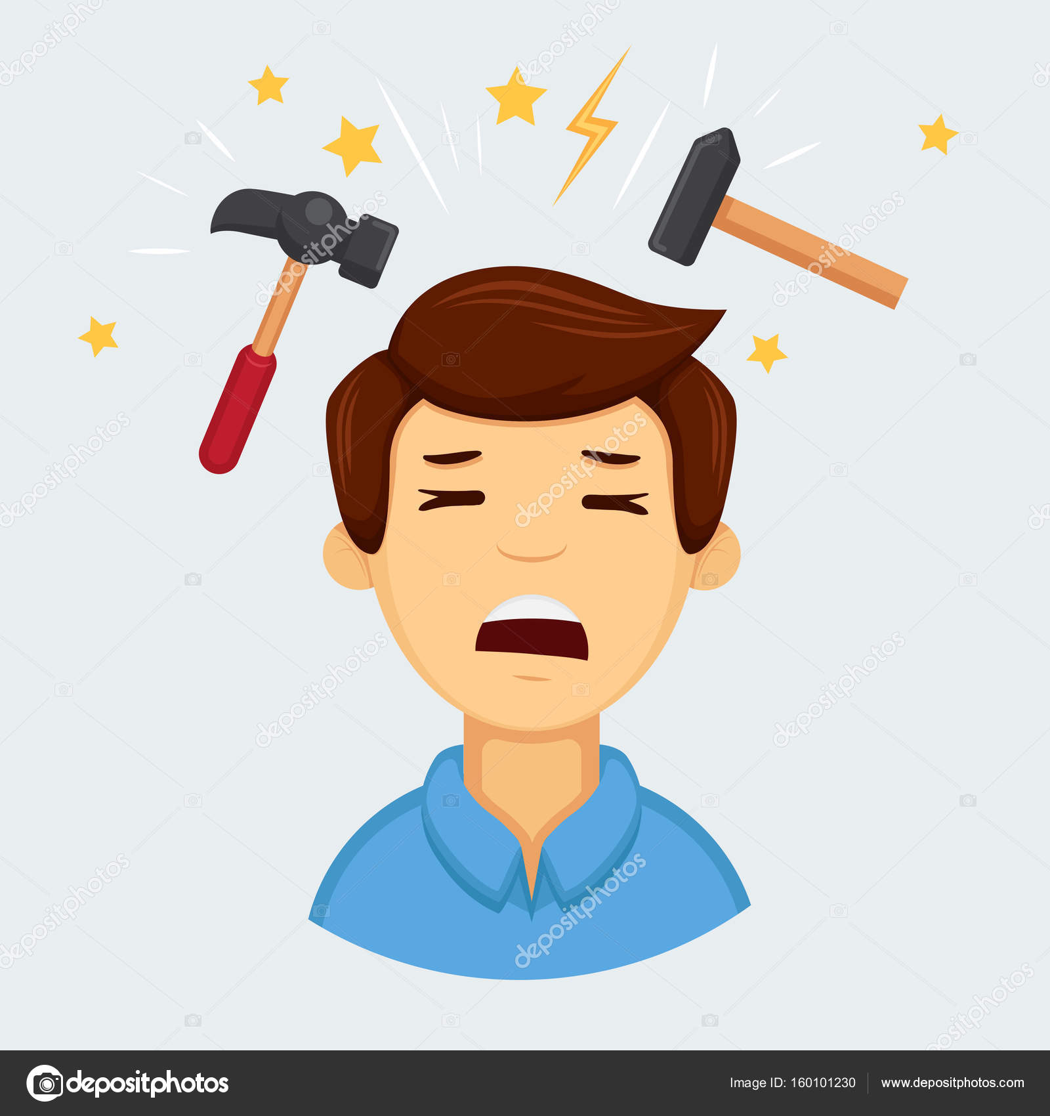 Migraine Emoji Headache Or Migraine Emoji Stock Vector C Saenko 160101230