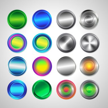 Web round buttons
