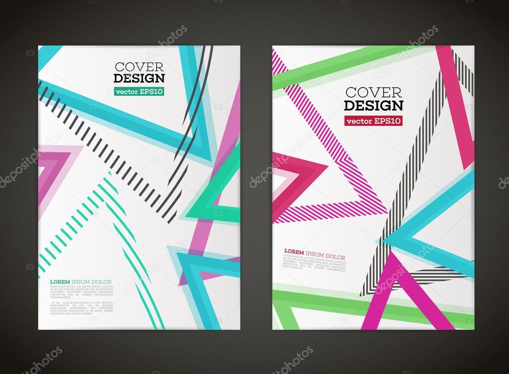 Abstraktes Vektor Linien Design Für Flyer Stockvektor