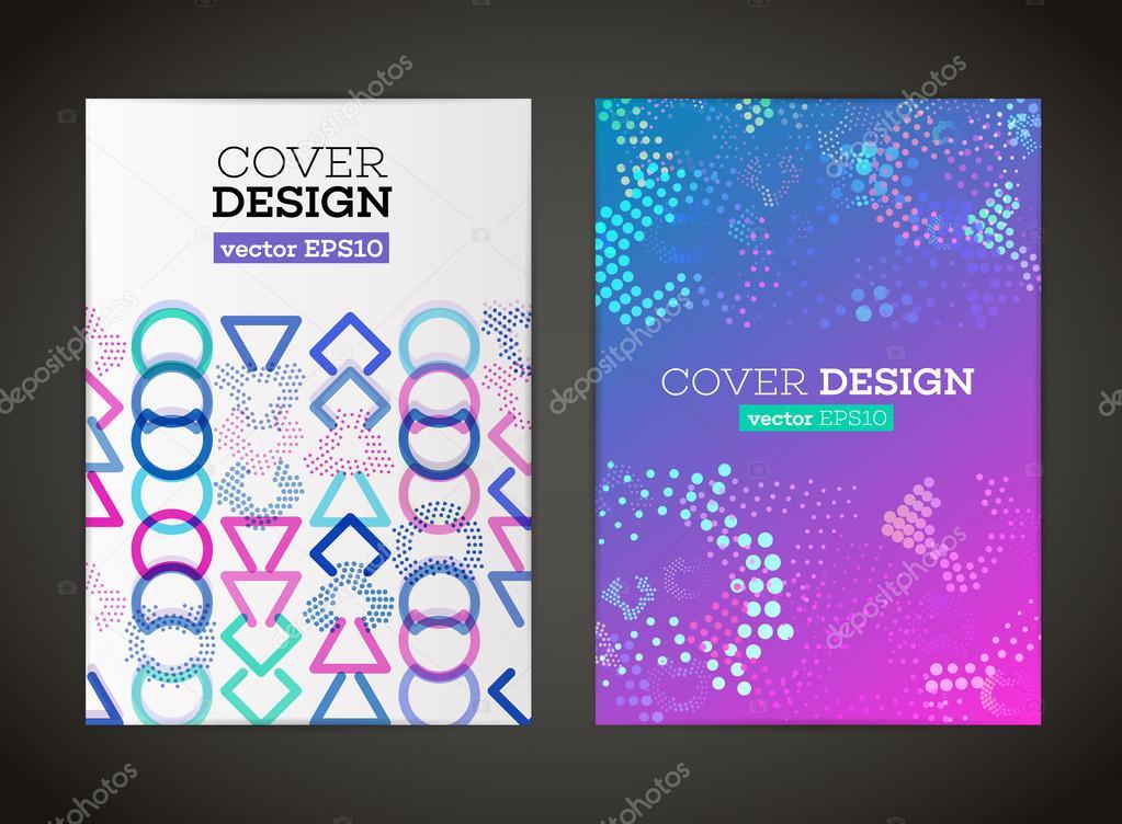 Carte De Visite Affiche Bannire Couverture Modle Brochure Conception Flyer Belle Et Mise En Page Format A4 Avec Des Formes