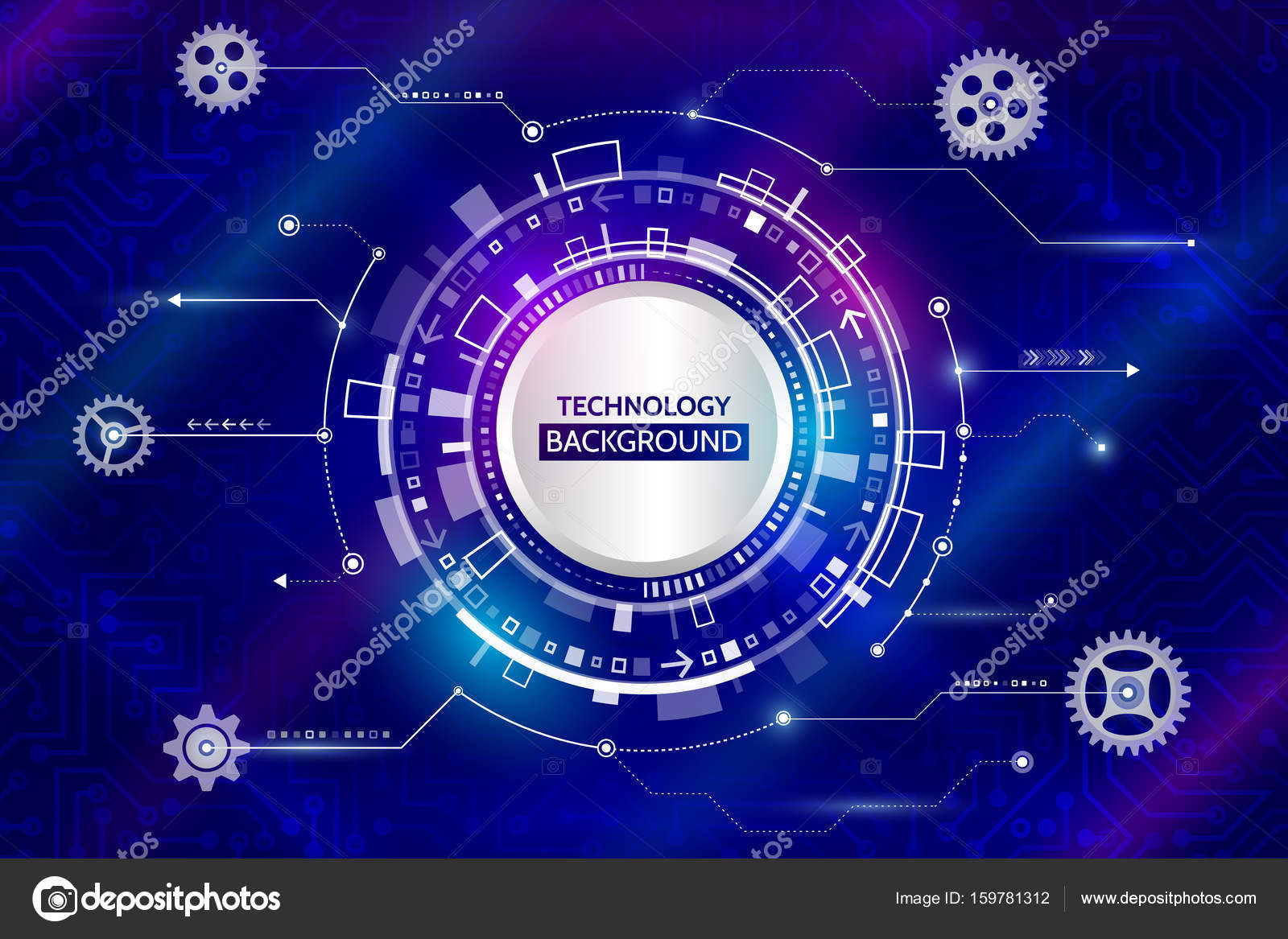 Abstract Digital Technology And Mechanical Elements Futuristic Background With Old Computer Circuit Board Hi Tech Vector Illustration Eps 10 By Arthead