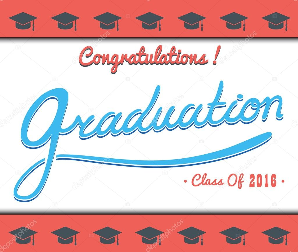 graduation vector template party congrats celebrate high school