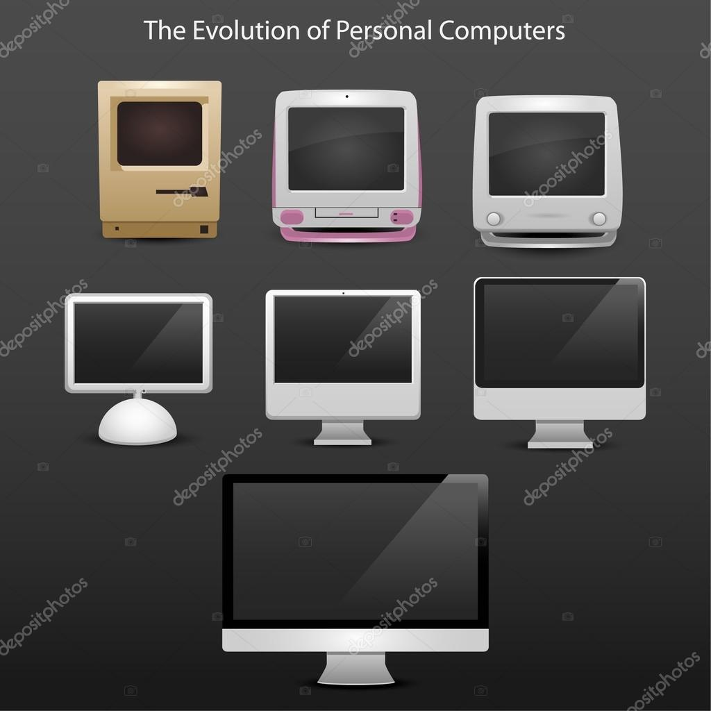 The evolution of computers 7 different types from 20-th