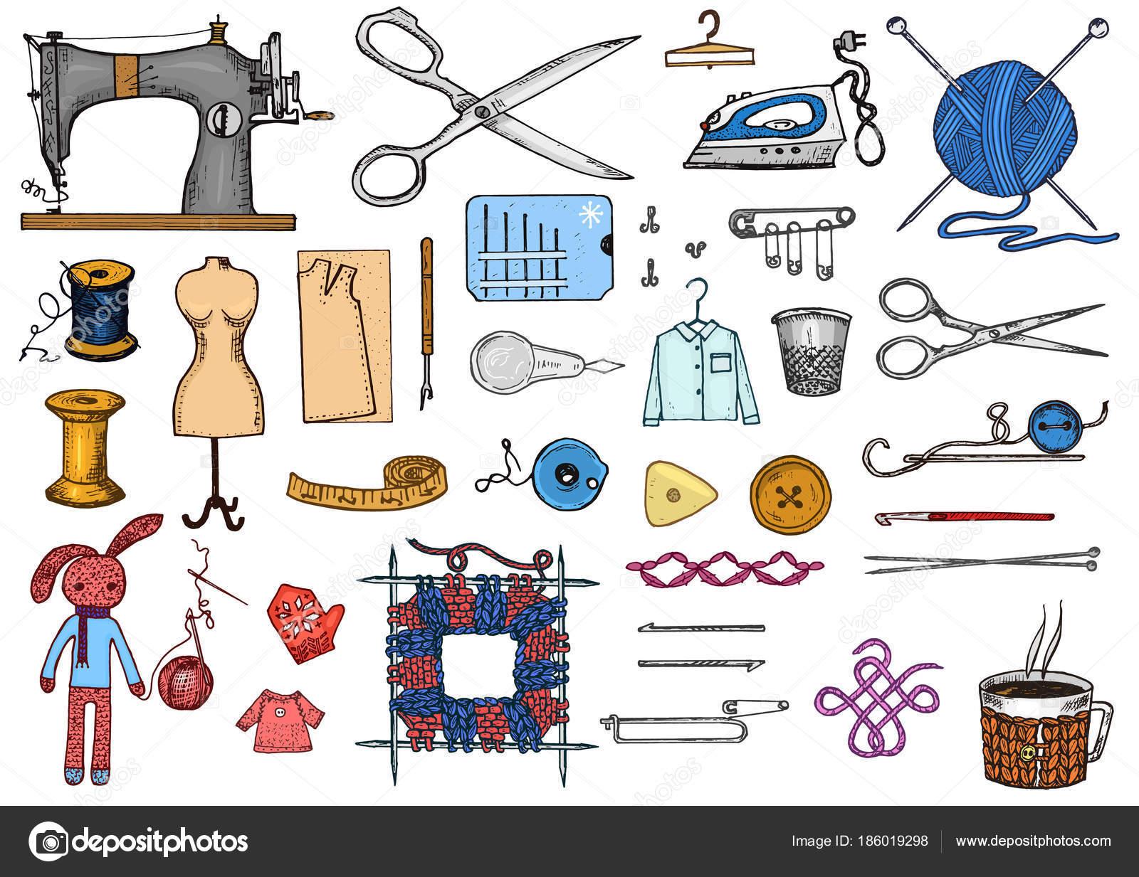 Herramientas de costura en ingles   Conjunto de herramientas de ...
