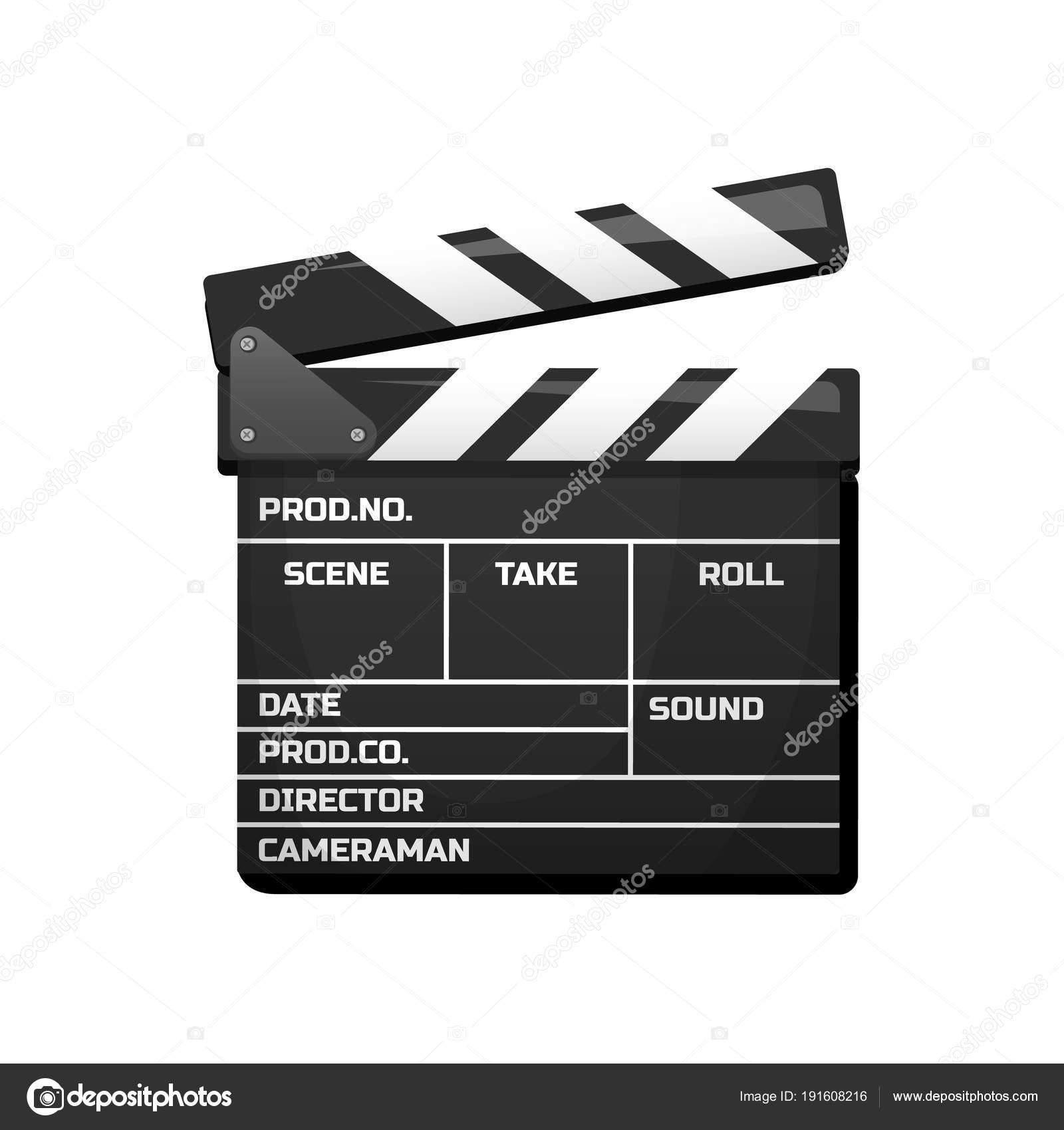 Klappe für Film. Vintage Kino, Unterhaltung und Erholung. Retro-Stil ...