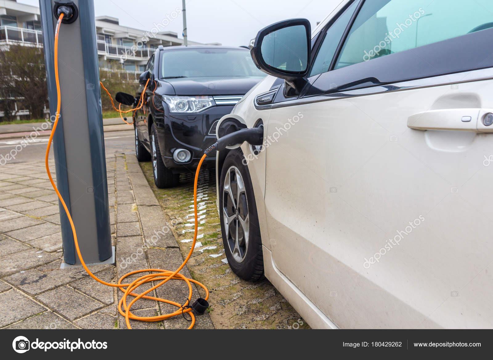 Kijkduin Den Haag Nederland Januari 2018 Hybride Elektrische Auto