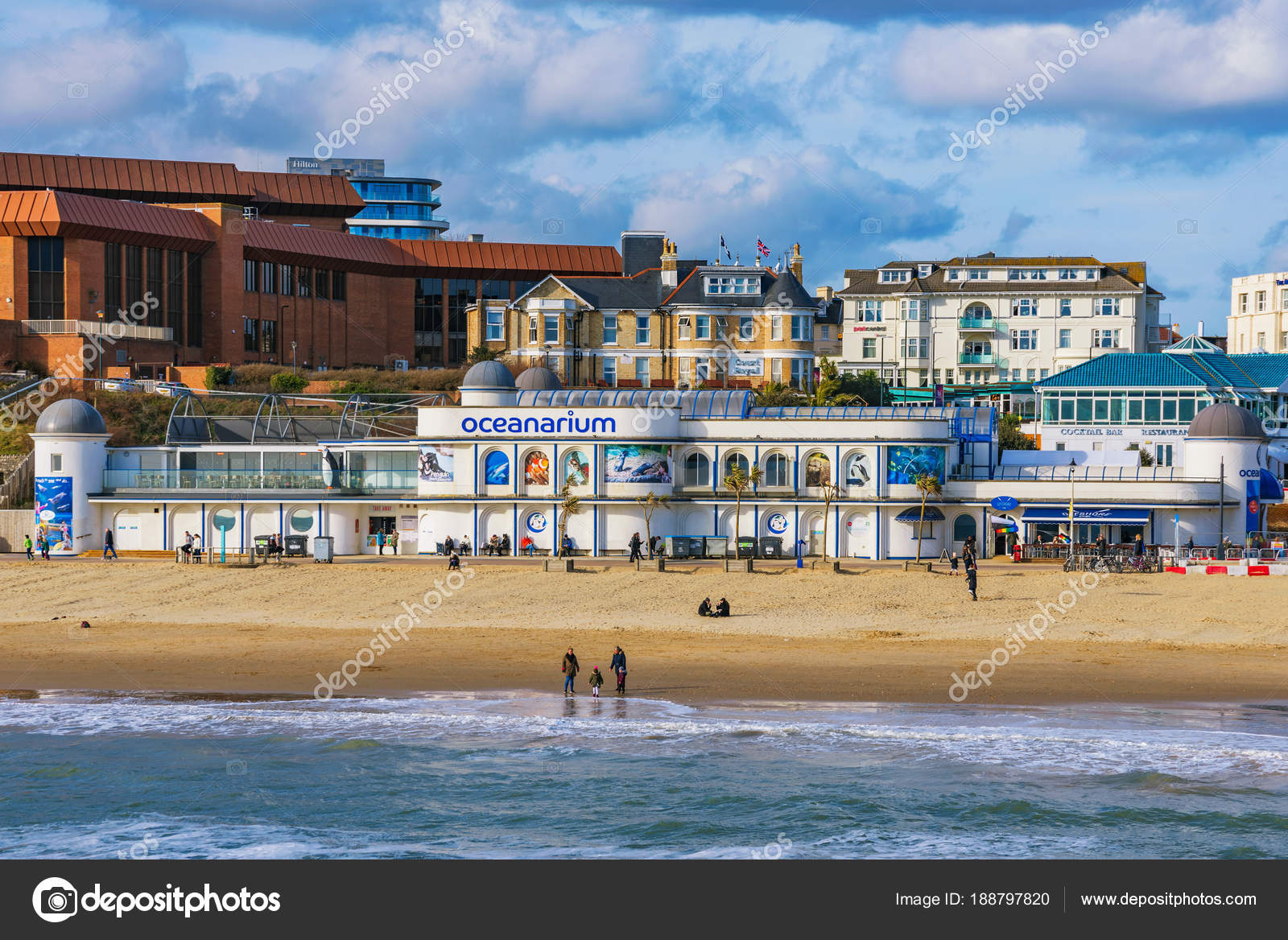 architecture de plage et bord de mer de bournemouth — photo