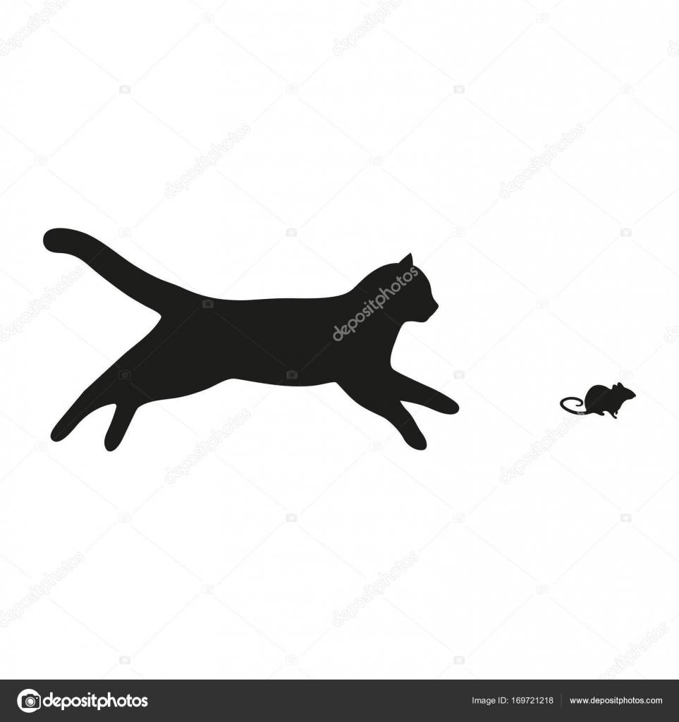 Siluetas De Gatos Para Decorar Paredes El Gato Atrapa Al