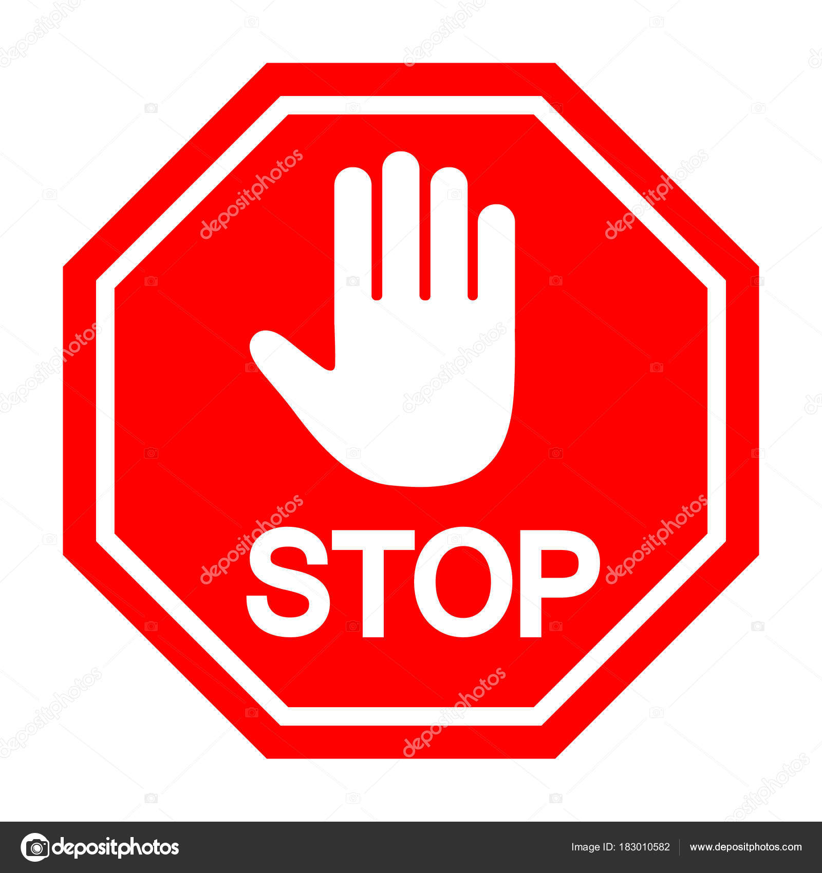 stop sign prohibited stock vector elena3567 183010582