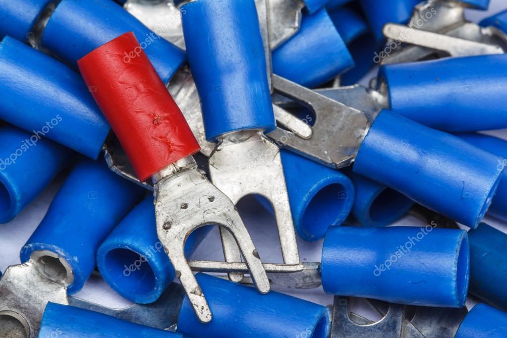Elektrische component kit-Kabelklemmen — Stockfoto © Prampangpa ...