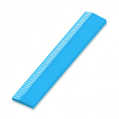 Isolated of ruler - vector illustration