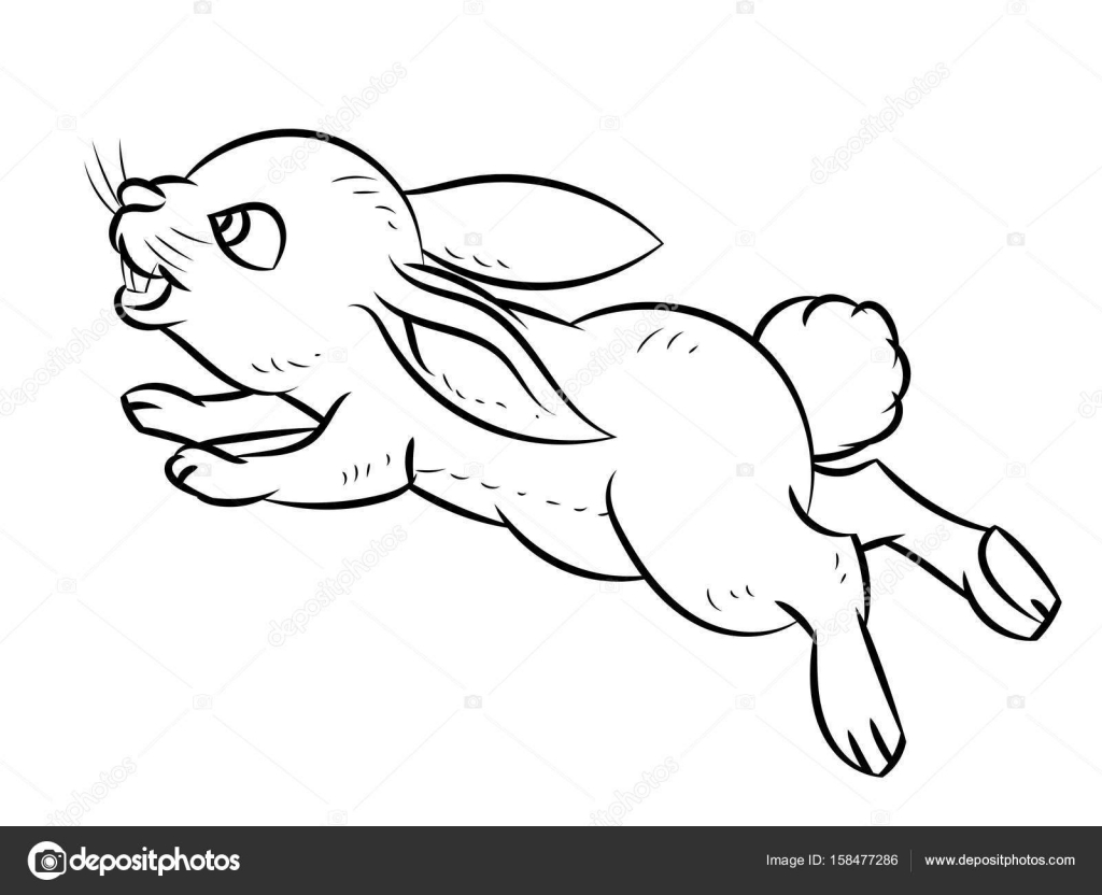 Dessin au trait de lapin ligne simple vecteur image for Lepre immagini da stampare