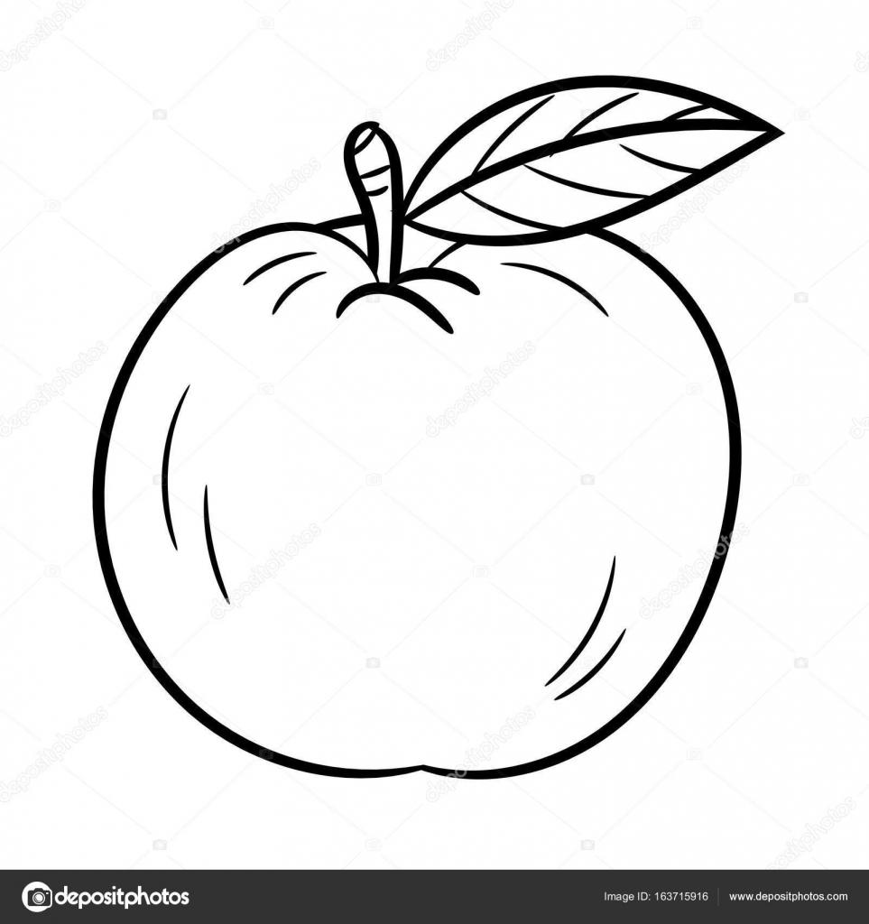 El çizimi Bir Elma Vektör çizim Stok Vektör Dcliner07gmailcom